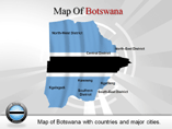 Botswana Map (PPT) Powerpoint Template