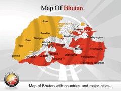 Bhutan PowerPoint map