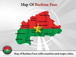 Map of Burkina Faso Powerpoint Template