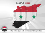 Syria Map (PPT) Powerpoint Template