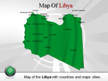 Map of Libya Powerpoint Template