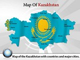 Map-of-Kazakhstan Powerpoint Template