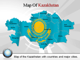 Kazakhstan Map (PPT) Powerpoint Template