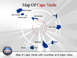 Cape Verde Map (PPT) Powerpoint Template