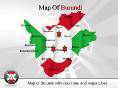 Burundi PowerPoint map