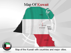 Kuwait powerpoint map