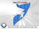 Somalia Map (PPT) Powerpoint Template
