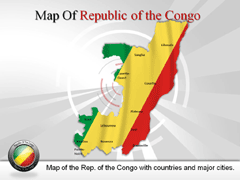 Republic of the Congo PowerPoint map