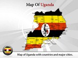 Map of Uganda Powerpoint Template