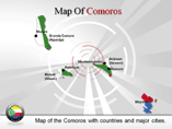 Comoros Map (PPT) Powerpoint Template