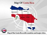 Costa Rica Map (PPT) Powerpoint Template