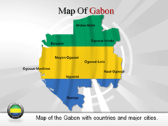 Gabon PowerPoint map