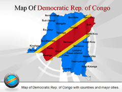Democratic Republic of Congo powerpoint map
