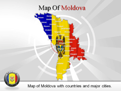 Moldova PowerPoint map