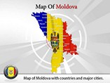 Moldova Map (PPT) Powerpoint Template