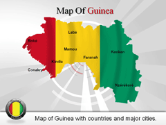 Guinea PowerPoint map