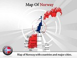 Map of Norway Powerpoint Template