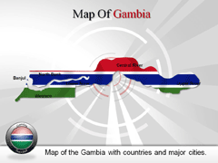 Gambia PowerPoint map