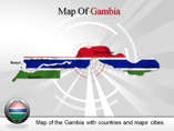 Gambia Map (PPT) Powerpoint Template