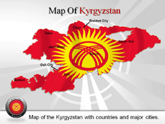 Kyrgyzstan PowerPoint map