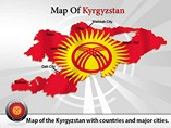 Kyrgyzstan Map (PPT) Powerpoint Template