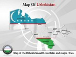 Uzbekistan Map (PPT) Powerpoint Template