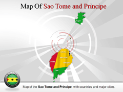Sao Tome and Principe PowerPoint map