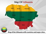 Map of Lithuania Powerpoint Template