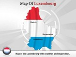 Luxembourg Map (PPT) Powerpoint Template