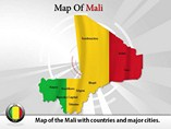Map of Mali Powerpoint Template