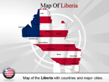 Liberia Map (PPT) Powerpoint Template