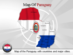 Paraguay PowerPoint map