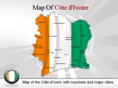 Cote dIvoire PowerPoint map