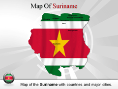 Suriname PowerPoint map