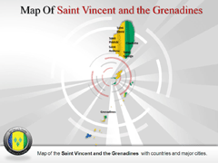 Saint Vincent and the Grenadines PowerPoint map
