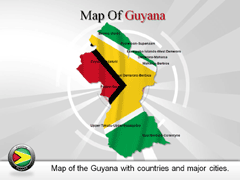Guyana PowerPoint map