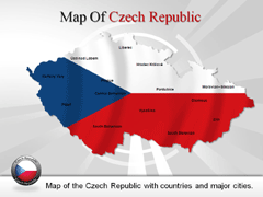 Czech Republic PowerPoint map