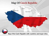 Czech Republic Map (PPT) Powerpoint Template