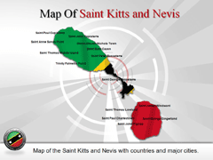Saint Kitts and Nevis PowerPoint map