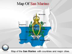 San Marino PowerPoint map