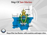 San Marino Map Powerpoint Template