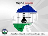 Lesotho Map Powerpoint Template