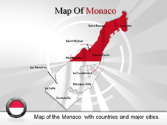 Monaco powerpoint map