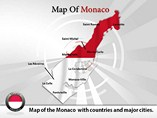 Monaco Map (PPT) Powerpoint Template