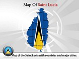 Saint Lucia Map Powerpoint Template