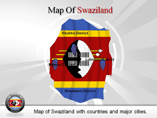 Swaziland Map Powerpoint Template