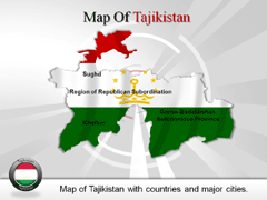 Tajikistan PowerPoint map