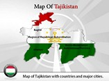 Map of Tajikistan Powerpoint Template
