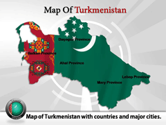 Turkmenistan PowerPoint map