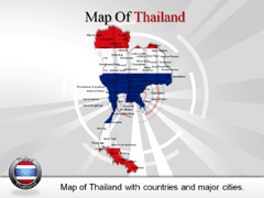 Thailand PowerPoint map